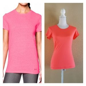 UNDER ARMOUR Pink Heat Gear Fitted Top